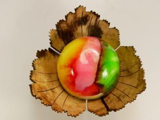 Kokosschale mit Guter Laune Seife Bubble Gum